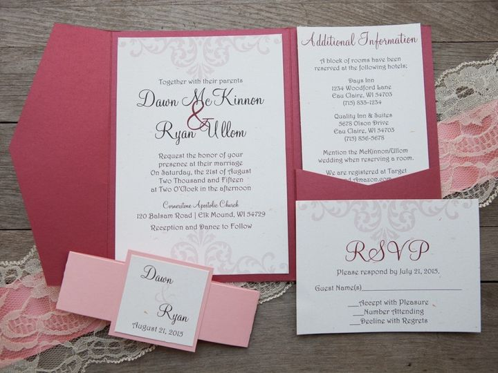 Tmx 1454086826264 Invitations 6081 2 Eau Claire, WI wedding invitation