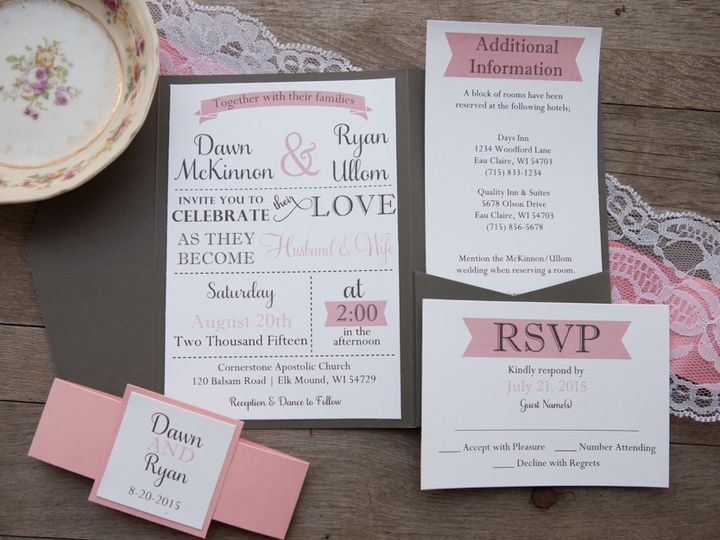 Tmx 1454086831747 Invitations 6088 2 Eau Claire, WI wedding invitation