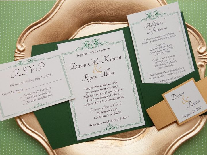 Tmx 1454086839629 Invitations 6092 2 Eau Claire, WI wedding invitation