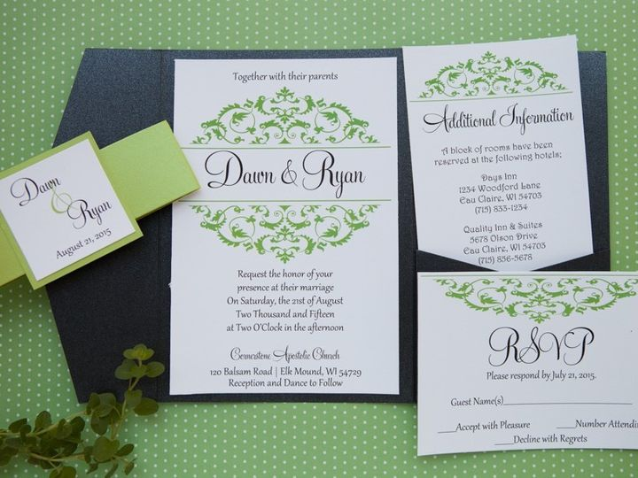 Tmx 1454086845515 Invitations 6100 2 Eau Claire, WI wedding invitation