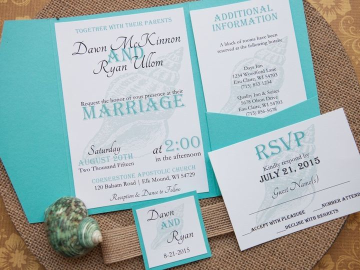 Tmx 1454086851104 Invitations 6109 2 Eau Claire, WI wedding invitation