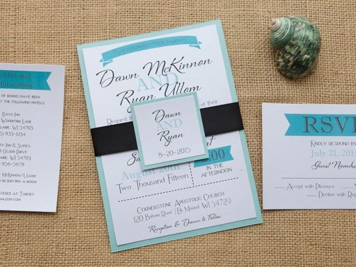 Tmx 1454086856907 Invitations 6112 2 Eau Claire, WI wedding invitation