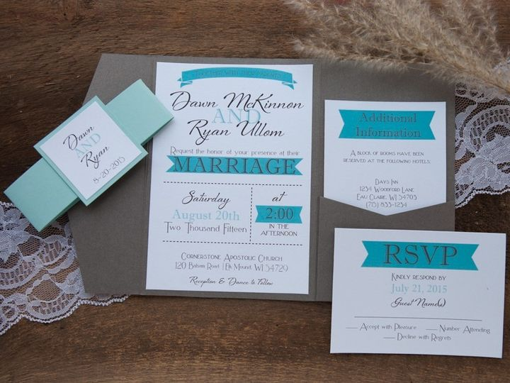 Tmx 1454086862104 Invitations 6119 2 Eau Claire, WI wedding invitation