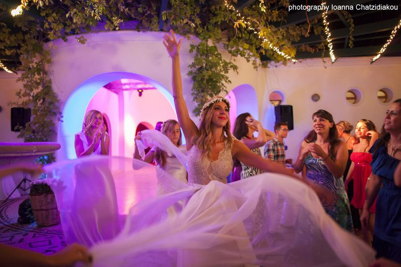 reception in kallithea town rhodes greece wedding