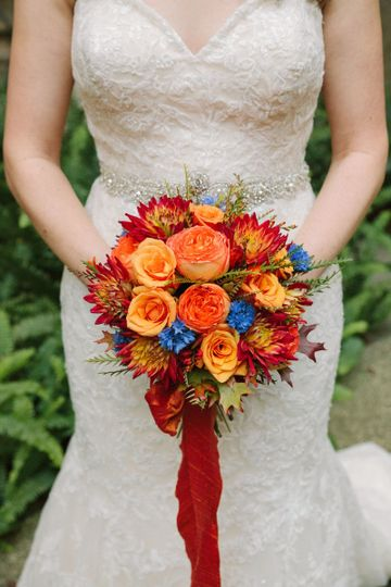 Summer colored bouquet