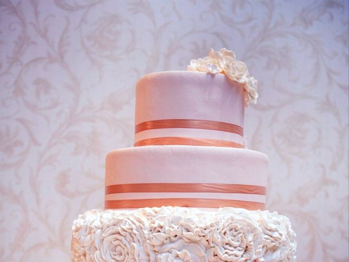 Tmx 1476798284466 Round Pink Rose Yummy Tampa, FL wedding cake