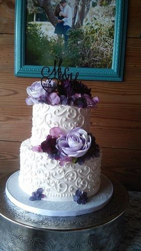 Tmx 1485284240424 Purple Flowers Tampa, FL wedding cake