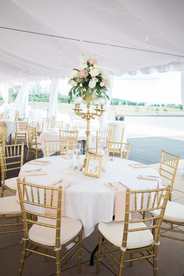 Outdoor tented event