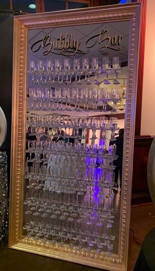 Wall of champagne