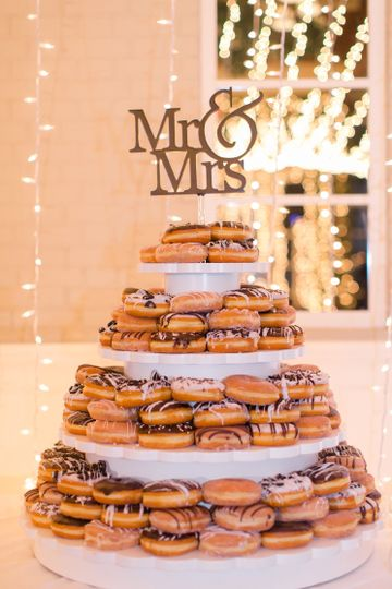 Tiered donut tower