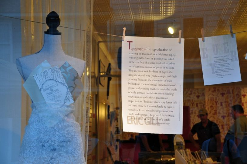Invitation Couture - our window display featuring examples from our invitation lines and a small...
