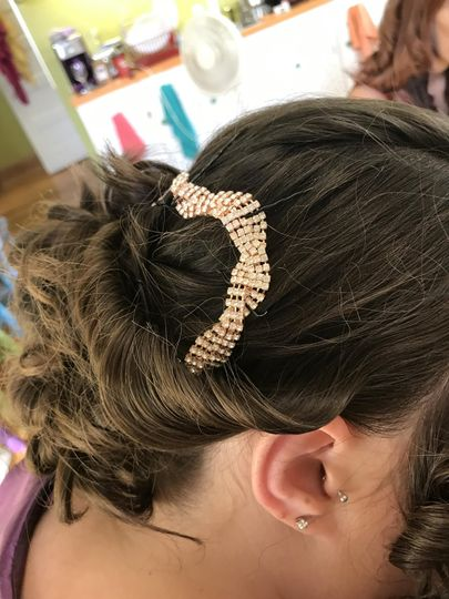 Bridal Updo, w/ornamentation
