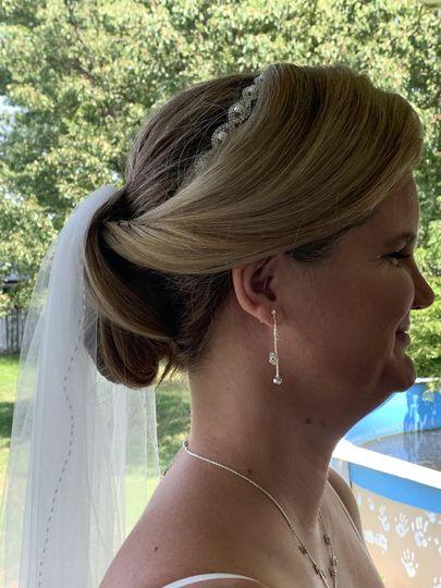 Bridal Updo, Profile View