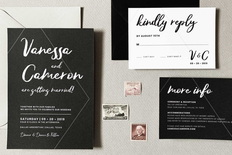 Black and White Wedding Suite