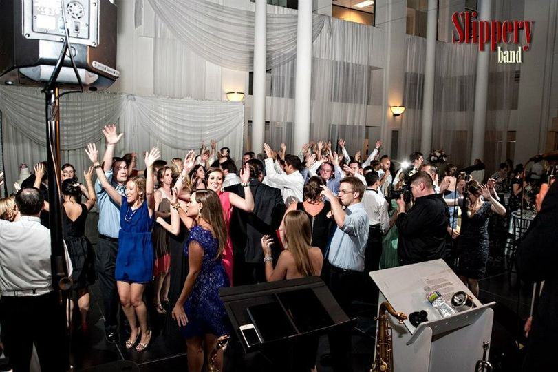 Packed dance floor at The Curtis Center in Philadelphia, PA.