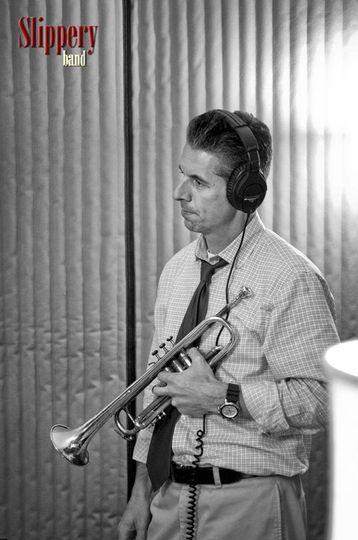Scott between takes in the recording studio.
