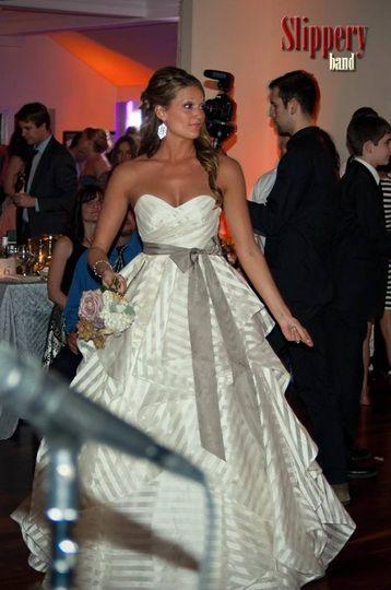Kourtney rocking her unforgettable dress.