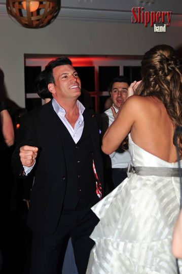 David Tutera on the dance floor with Slippery Band