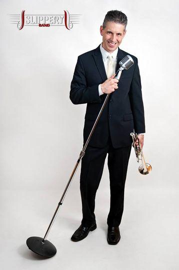 New Slippery Band promo photos. Scott on trumpet.