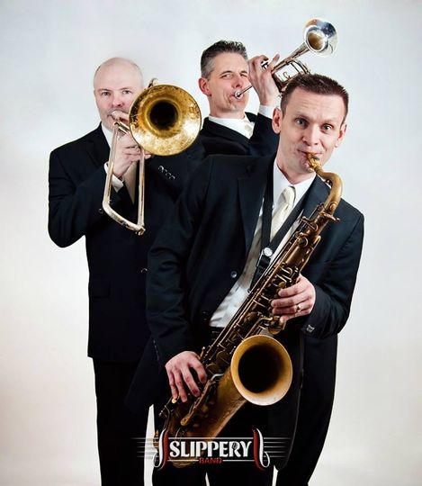 New Slippery Band promo photos. The horn section.