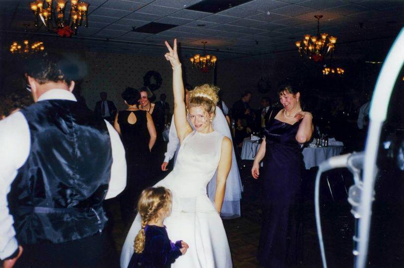 Bride posing on the dance floor