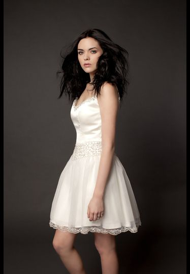 Dear Mr. D.J., It's my wedding day, and with this lace hemmed ballerina-inspired dress, it is...
