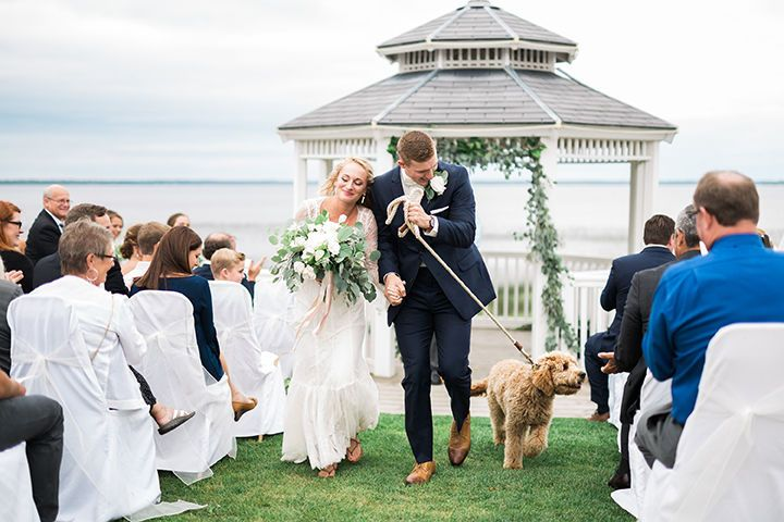 Waterfront Ceremony overlooking Lake MichiganPhoto by: Rockhill Studios