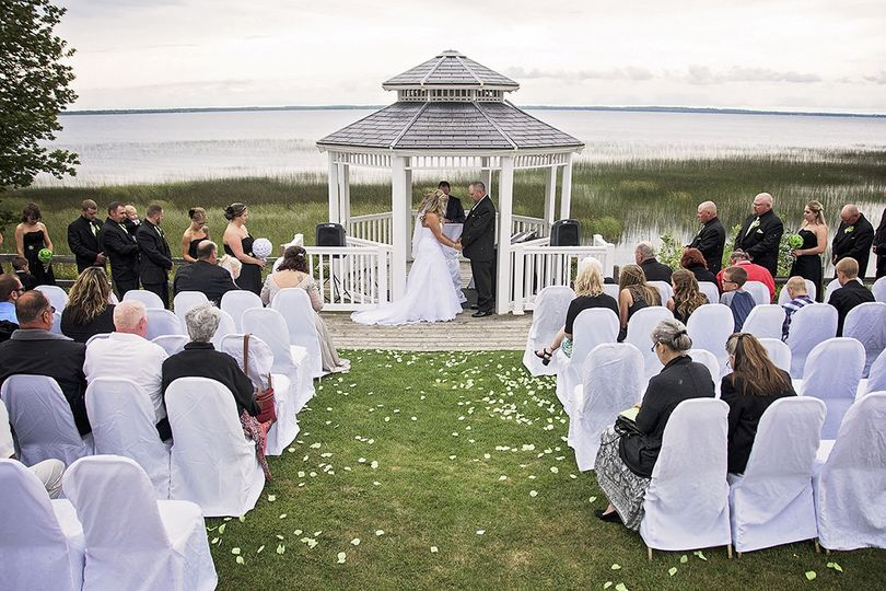 Waterfront Ceremony overlooking Lake MichiganPhoto by: BEL Photography