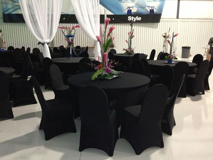 Black stretch chair covers