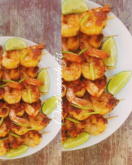 Shrimp,kebab