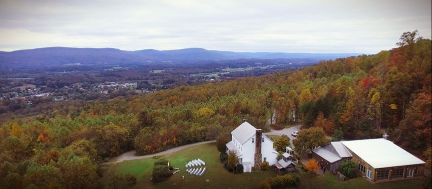 Overhead of 65 acre property