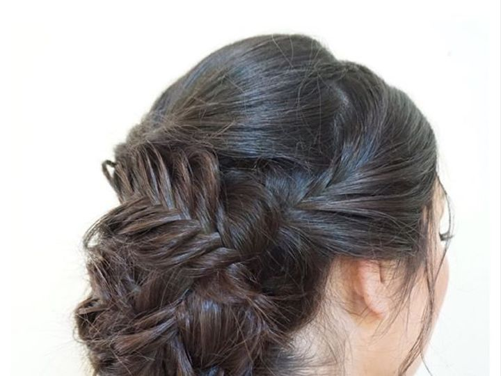 Tmx Iave Been Chomping At The Bit Wanting To Post This Gorgeous Updo It Consists Of Only Fishtail Braids Wrapped Around One Another To Create A 51 1118371 1569891761 Pleasanton, CA wedding beauty