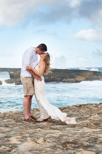 Ocean side kiss