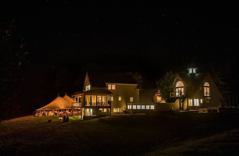 Tinkham Hill Farm at night