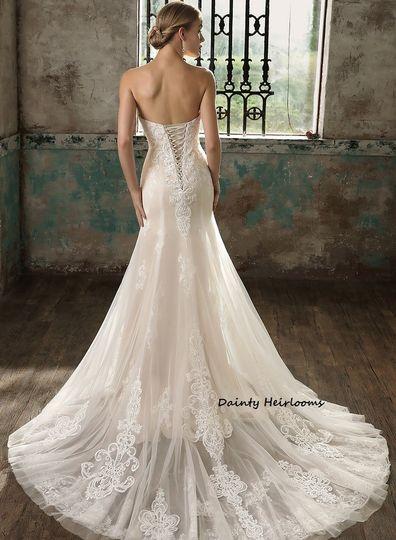 Sweetheart style Corset Wedding Dress.