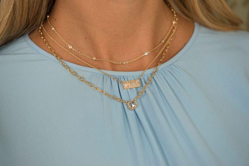Single stone diamond necklaces
