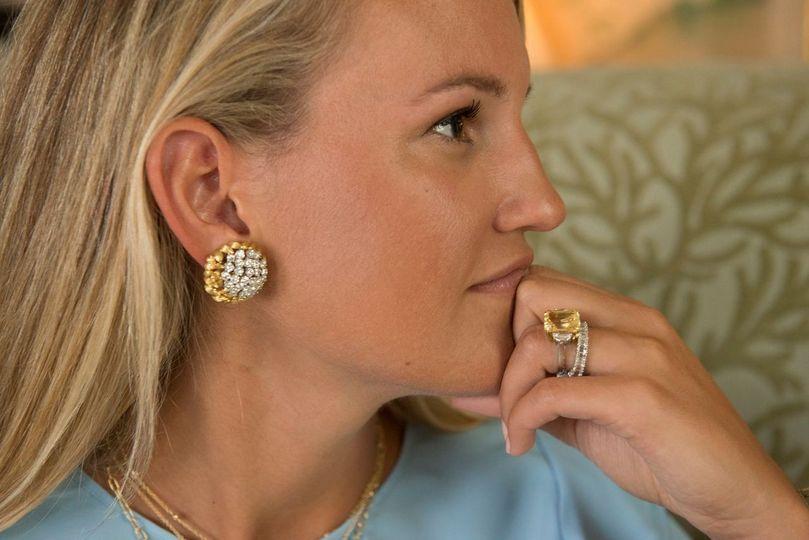 Estate diamond cluster earring