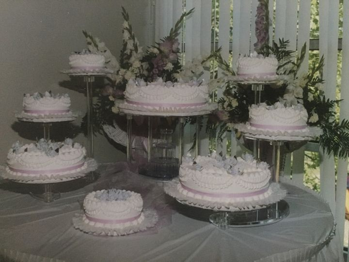 Various wedding cakes