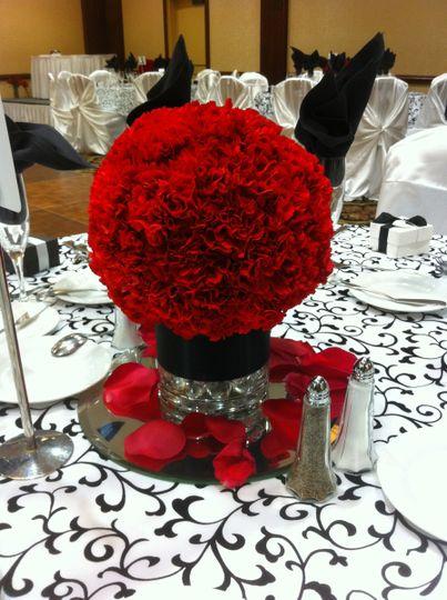 red carnationa pomander