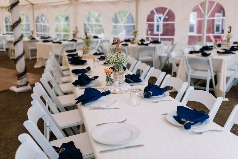 Tables and chairs for guests