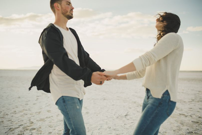 Oceanfront engagement session