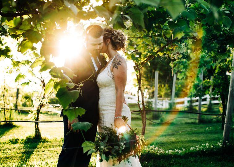Sun-filled wedding