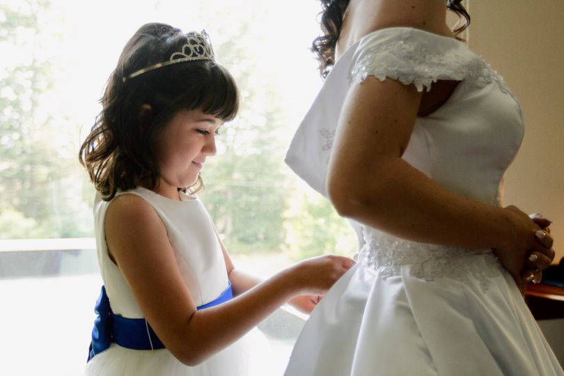 Helping Momma on her big day!