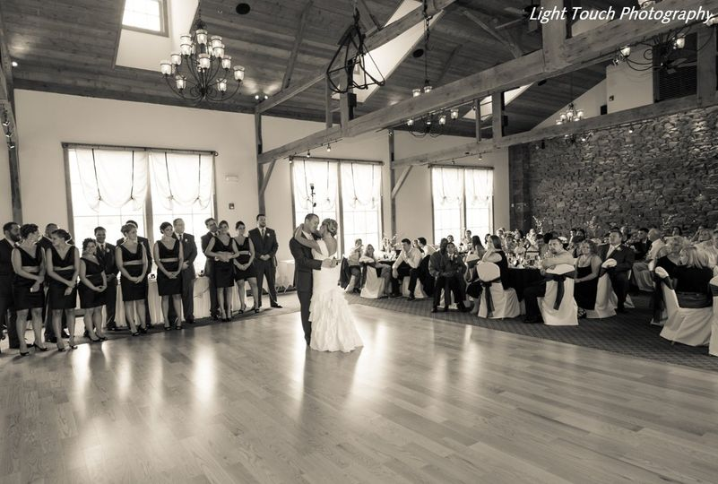 A first dance on the brand-new dance floor