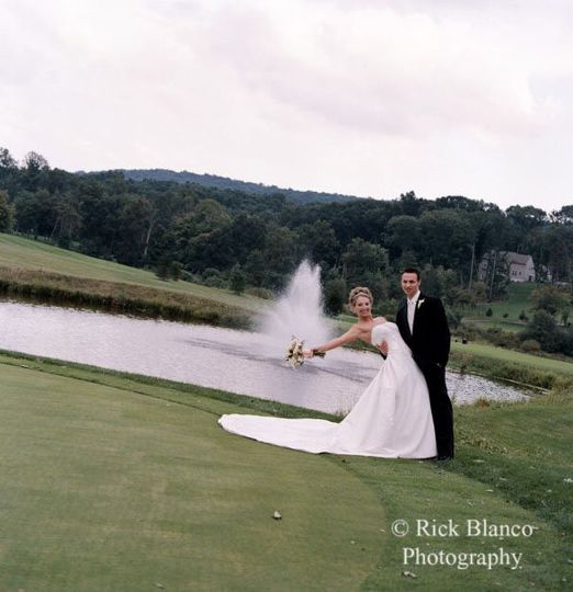 The fountain just off of the 18th green is a beautiful backdrop