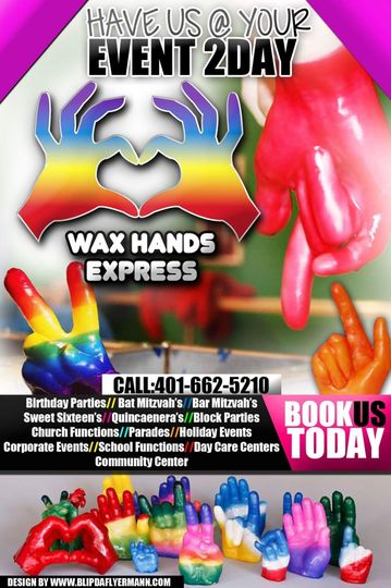 wax hand flyer
