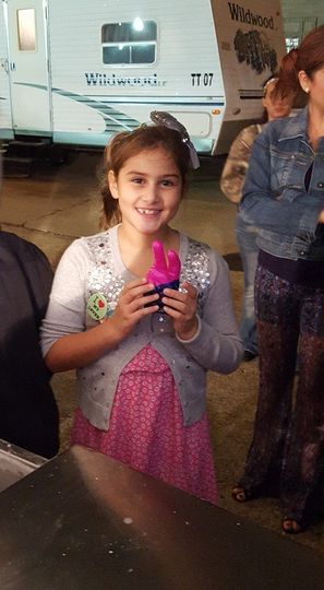 girl with wax hand