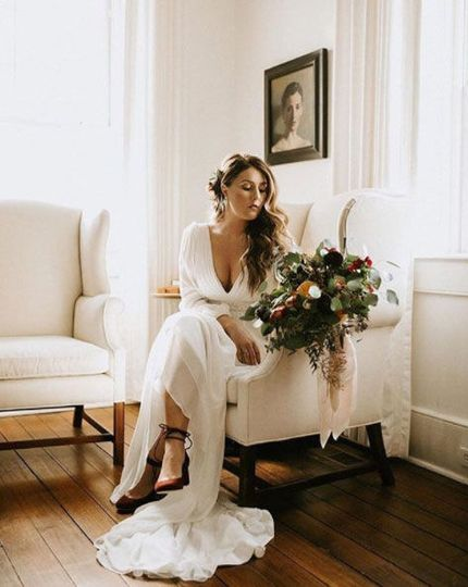 Waiting bride | Madelines PhotographyGown by Ti Adora.Couture Closet Bridal Kentucky Bridal Boutique