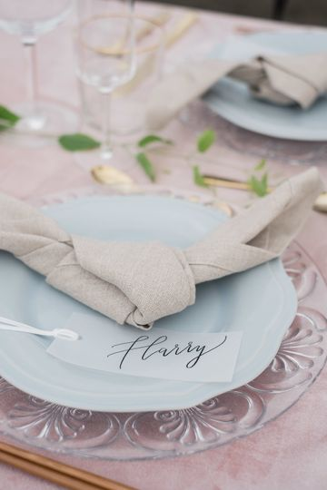 Table setting | | Photo by Kristine Marie Photography