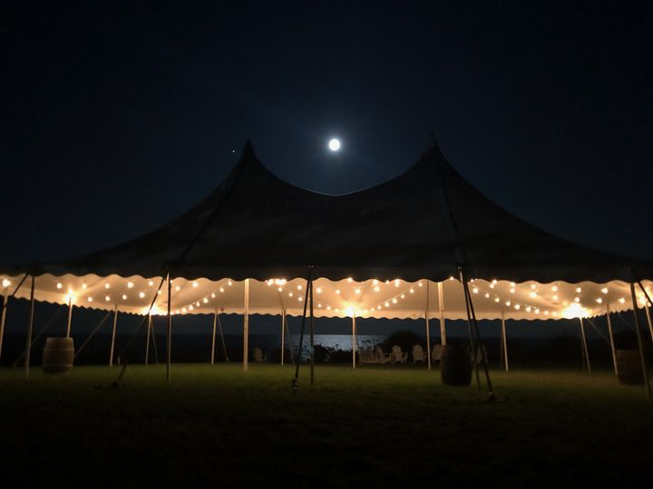 The Elope-tent at night